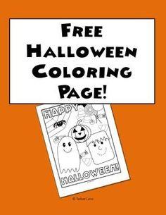 Enjoy This Adorable Free Halloween Coloring Page. | Teachers Pay Teachers |  Pinterest | Halloween Coloring, Free And Teacher Pay Teachers