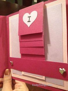 Valentine Pop Up Card w/ Hidden Message - great website!