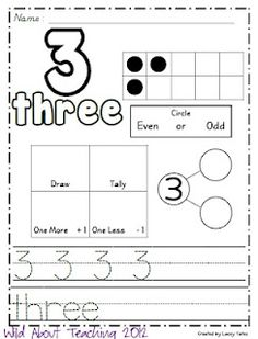 Numbers 0-20 printables-Freebie!