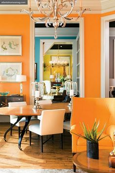 It takes large spaces to use bold colors