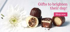 Gifts to brighten their day at lilyobriens. Chocolate Gifts, Best Chocolate, Chocolates, Muffin, Pudding, Lily, Seasons, Breakfast, Desserts