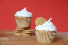 Flutter Nutter Cupcakes (peanut butter flavored cupcakes filled with nutella and topped with a fluffy frosting)