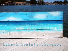 Lake Girl Paints: Some Beach Somewhere Pallet Art http://lakegirlpaints.blogspot.com/2012/07/some-beach-somewhere-pallet-art.html