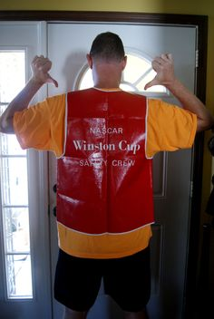 Vintage Winston Cup Series, Safety Crew Vest, NASCAR, Daytona 500, Red White Vinyl, Car Racing, Stockcar, Fan Gear, Collectible, Memorabilia by BrindleDogVintage on Etsy