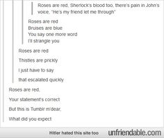 'Roses Are Red' Starring Tumblr - - Public Displays of Fail - Unfriendable