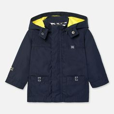 Mayoral Boys Windbreaker Navy Hooded in Navy. Available in Size Style ID Shop more Boys Outerwear online today. Spring Outfits, Girl Outfits, Boy Or Girl, Baby Boy, Casual Wear, Adidas Jacket, Hoods, Babe, Windbreaker
