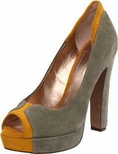 BCBGeneration Women's Jodeci Platform Pump: BCBGeneration: Shoes in Dark Storm/Mustard