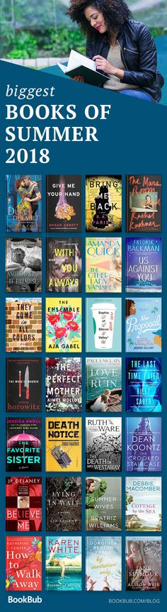 These are the best and biggest books for summer 2018. They are great to read under the sun and on the beach — romance, biographies, mysteries, thrillers, and historical fiction. #summerbooks #beachreads #bookrecs #bookrecommendations