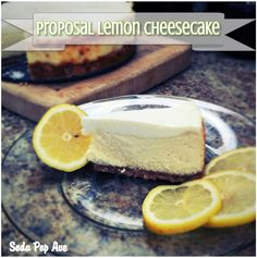Such a tasty lemon cheesecake! Try it out and learn why it's called proposal lemon cheesecake. Click for recipe. www.sodapopave.com
