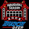Busch 2006 Cardinals Stadium Neon Beer Sign