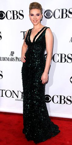 Scarlett Johansson in Elie Saab A/W 2010-2011 at the Tony Awards, June 2010