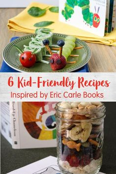 Here are 6 kid-friendly food ideas to pair with your favorite Eric Carle books like The Very Hungry Caterpillar, Brown Bear, Brown Bean and more. Super Healthy Recipes, Healthy Kids, Healthy Snacks, Ladybug Snacks, Cool Lunch Boxes, Very Hungry Caterpillar, Eric Carle, Kid Friendly Meals, Brown Bear