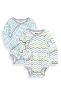 Skip Hop Long Sleeve Bodysuits (Set of 2) (Baby Boys) available at #Nordstrom