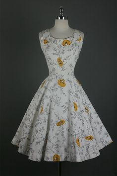 1950's Jerry Gilden Cotton Garden Party Dress
