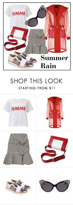 """""""Summer Rain"""" by maguba ❤ liked on Polyvore featuring Miss Selfridge, Veronica Beard, Maguba and Dsquared2"""