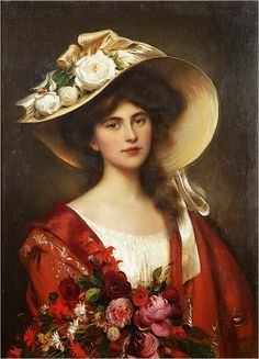 ⊰ Posing with Posies ⊱ paintings of women and flowers - Lilla Cabot Perry - Albert Lynch