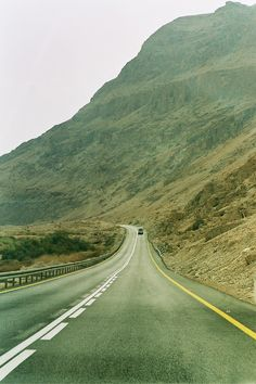 Road To The Dead Sea In Israel...I have traveled this road and it's very barren on all sides, desert and dry