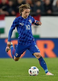 Luka Modric during the game between Hungary and Croatia. On 27 March,2016.