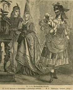 Kostiumy, 1873    Fancy dress, 1873