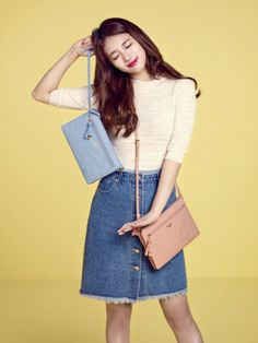 Suzy turns heads modeling the 'Beanpole Accessories' and 'Kakao Friends' collaboration bags! | allkpop.com