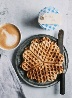 Waffles w/Banana {GF} | The Food Club on We Heart It.