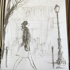 """louiedelcarmen: """" Post Paris sketch """""""
