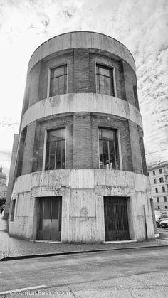 Casa del Fascio, designed by Arnaldo Fuzzi, in Predappio, Italy Rationalism, Atrium, Pisa, Tower, Building, Artwork, Design, Blog, Work Of Art