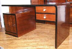 French Streamline Desk and Bookcase Set   Sold Items Desks & Cabinets   Art Deco Collection