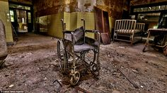 Inside the abandoned Forest Haven Asylum in Laurel, Maryland which was closed down in 1991 after allegations of abuse of patients