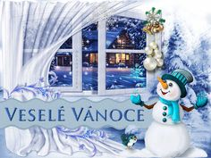 vanoce_vanocni_prani Merry Christmas, Christmas Ornaments, Advent, Views Album, Snow Globes, Smurfs, Birthday Cake, Animation, Holiday Decor