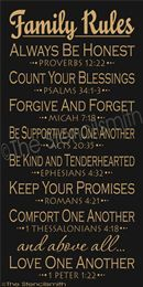 Family Rules ... scripture
