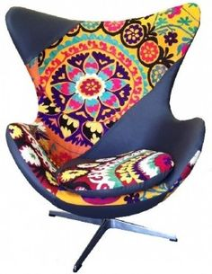 """egg chair in patchwork, egg chair suzani, when it says, """"call for price"""" probably not good."""