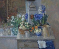 Pamela Kay Spring Flowers in the Studio
