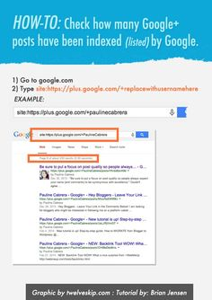 How to see how many of your Google Plus posts have been indexed.