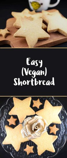 Simple Vegan Shortbread - what's not to love about this dairy free dunkable?!