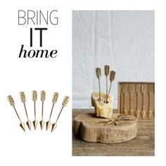 """""""Bring It Home: Gold Arrow Cheese Markers"""" by polyvore-editorial ❤ liked on Polyvore featuring interior, interiors, interior design, home, home decor, interior decorating and bringithome"""
