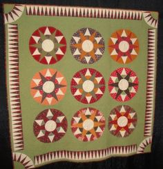 """""""Muncy Compass"""" quilt by Karen Kay Buckley, inspired by antique quilt"""