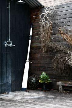 rustic outdoor shower!