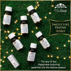 This festive season, let everyone breathe the sweet scent of joy, happiness and excitement. Create the perfect mood with these mood-elevating essential oils by R.K's Aroma!