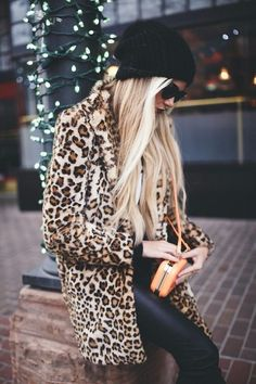 cheetah fur jacket … More