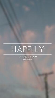 Happily • Midnight Memories Lockscreen — ctto: @stylinsonphones