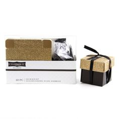 Celebrate It™ Occasions™ Favor Boxes, Black & Gold GlitterCelebrate It Occasions Favor Boxes, Black & Gold Glitter
