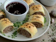 Paszteciki z wołowiną Mashed Potatoes, Hamburger, Muffin, Pudding, Beef, Baking, Breakfast, Ethnic Recipes, Food
