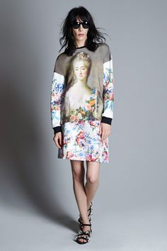 Emanuel Ungaro | Resort 2015 Collection | Great print mixing in this collection. Also, one tough model!