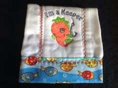 Embroidered burp cloths. by GrandmaTalleysShop on Etsy, $24.99