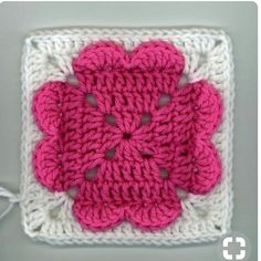 Valentine's Day will be here before you know it, so get crocheting with this free crochet afghan square pattern! This 4 Heart Square is the perfect homemade gift to give your sweetheart this year. All you need is some weight yarn and a J hook. Point Granny Au Crochet, Crochet Squares Afghan, Crochet Motifs, Granny Square Crochet Pattern, Crochet Blocks, Afghan Patterns, Crochet Afghans, Baby Afghans, Crochet Hearts