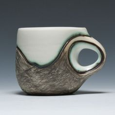 Another Audrey Rosulek Mug.   Personally, the handle doesn't look comfy to hold on this one (It may very well be), but I adore the form on the whole mug and handle together.
