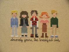 The Breakfast Club. This would be such a cool dish towel...not to use, to display.