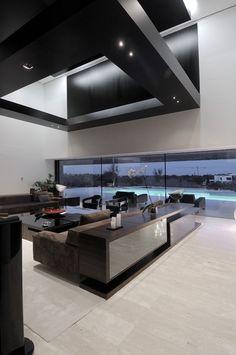 ♂ Contemporary home living room space