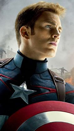 Captain America - Tap to see Avengers: Age of Ultron Apple iPhone HD Wallpapers Collection - marvel hero Hulk Avengers, Avengers Movies, Marvel Characters, Marvel Movies, Capitan America Marvel, Capitan America Chris Evans, Chris Evans Captain America, Steve Rogers, Captain Marvel